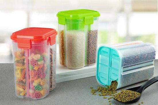 Transparent Plastic Lock Food Storage Dispenser Airtight Container