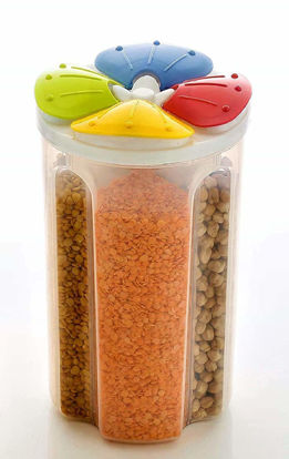 4 Sections Air Tight Transparent Storage Container