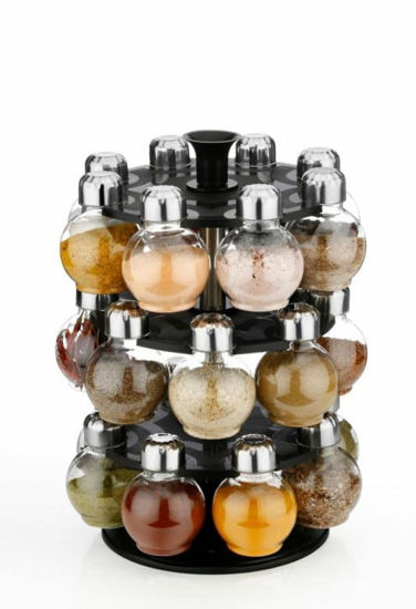 360 Degree Revolving Round Shape  Spice Rack/Container
