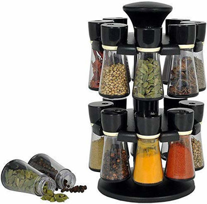 Plastic Revolving Spice Jar Masala Containers Rack