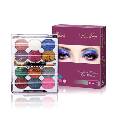 Blue Heaven 12x1 Fashion Eye Shadow, Multicolor, 10g