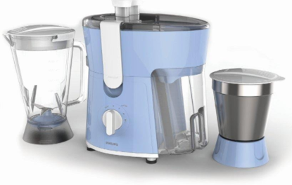 Picture of Philips Amaze HL7575/00 600-Watt Juicer Mixer Grinder with 2 Jars (Celestial Blue/Bright White)