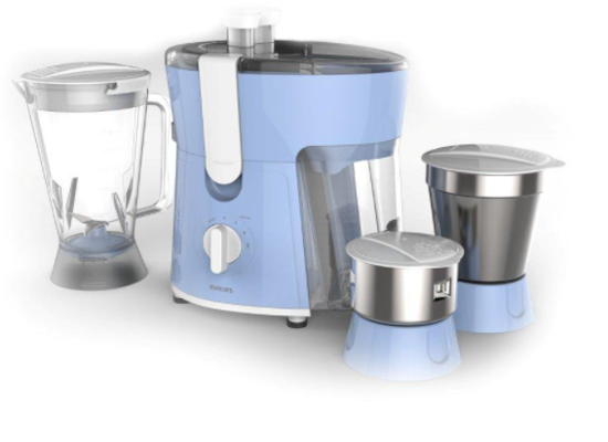 Picture of Philips Amaze HL7576/00 600-Watt Juicer Mixer Grinder with 3 Jars (Celestial Blue/Bright White)